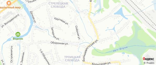 Озерная улица на карте Старого Оскола с номерами домов