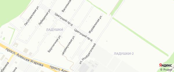 Журавлиная улица на карте Старого Оскола с номерами домов