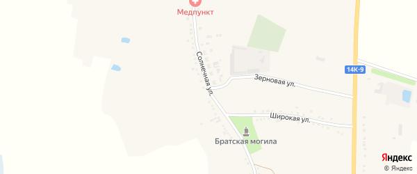 Солнечная улица на карте села Волоконовки с номерами домов