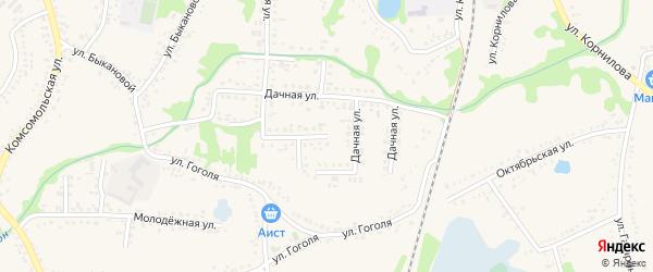 Туристическая улица на карте поселка Волоконовки с номерами домов