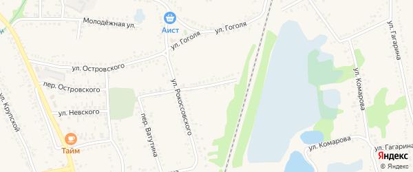 Переулок Рокоссовского на карте поселка Волоконовки с номерами домов