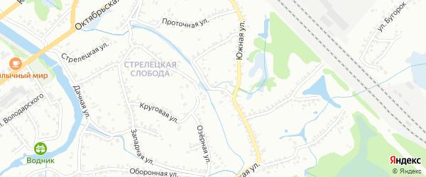 2-й Южный переулок на карте Старого Оскола с номерами домов