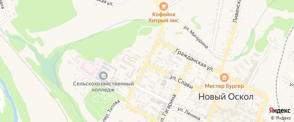 Красноармейская улица на карте Нового Оскола с номерами домов