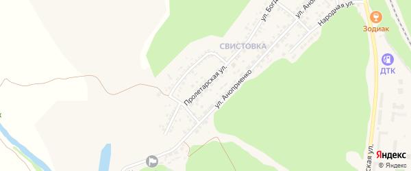 Пролетарская улица на карте Нового Оскола с номерами домов