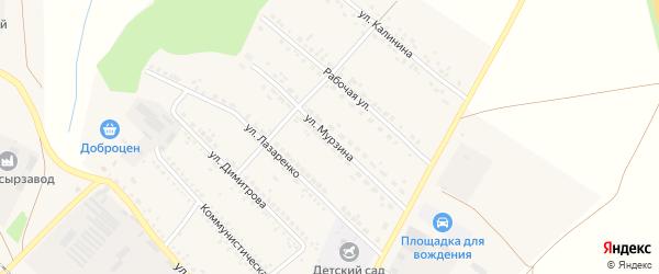 Улица Мурзина на карте поселка Волоконовки с номерами домов