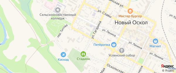 Улица Воровского на карте Нового Оскола с номерами домов