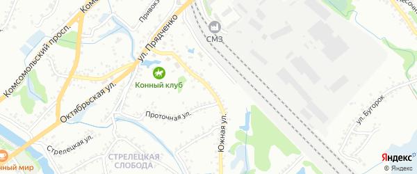 Южная улица на карте Старого Оскола с номерами домов