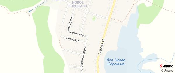 Строительная улица на карте Нижнеатаманского села с номерами домов
