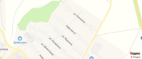 Рабочая улица на карте поселка Волоконовки с номерами домов