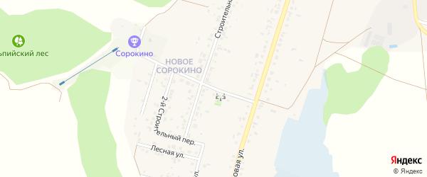 1-й Строительный переулок на карте Нижнеатаманского села с номерами домов