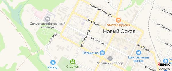 Улица Гагарина на карте Нового Оскола с номерами домов