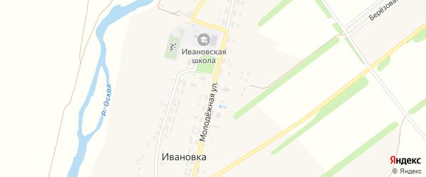 Молодежная улица на карте села Ивановки с номерами домов