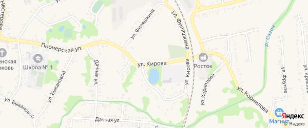 Улица Кирова на карте поселка Волоконовки с номерами домов