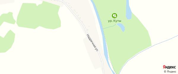 Надречная улица на карте села Погромца с номерами домов