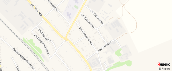 Улица Лермонтова на карте поселка Волоконовки с номерами домов