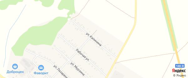 Улица Калинина на карте поселка Волоконовки с номерами домов