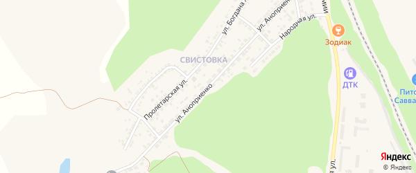 Улица Аноприенко на карте Нового Оскола с номерами домов