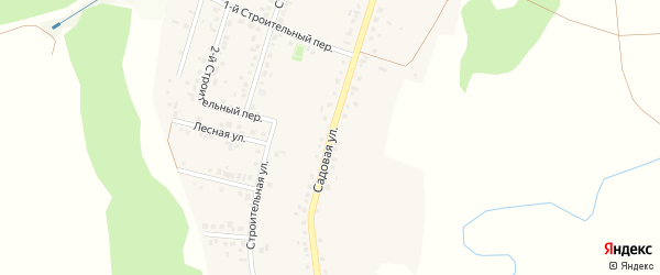Садовая улица на карте Нижнеатаманского села с номерами домов