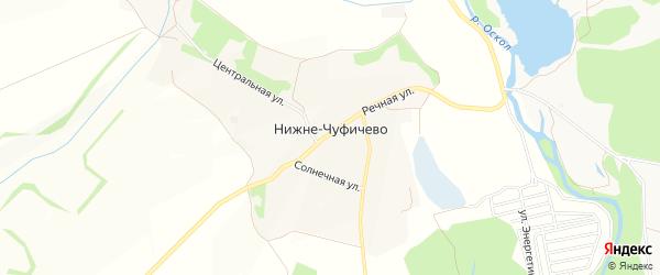 Карта села Нижне-Чуфичево в Белгородской области с улицами и номерами домов