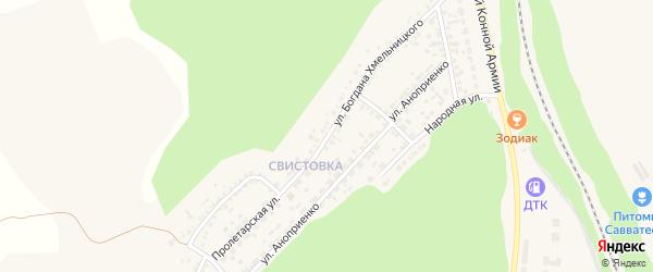 Улица Б.Хмельницкого на карте Нового Оскола с номерами домов