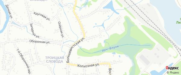 Большевистская улица на карте Старого Оскола с номерами домов