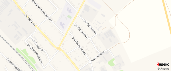 Улица Тургенева на карте поселка Волоконовки с номерами домов