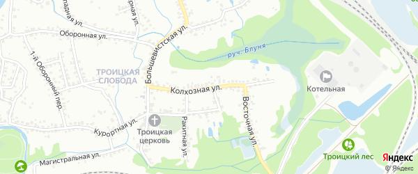 Колхозная улица на карте Старого Оскола с номерами домов