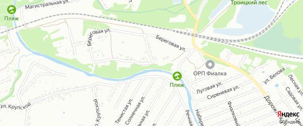 Береговая улица на карте Старого Оскола с номерами домов