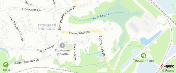 Колхозный переулок на карте Старого Оскола с номерами домов