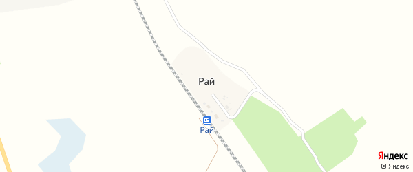 Железнодорожная улица на карте поселка Рая с номерами домов