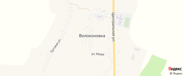 Зерновая улица на карте села Волоконовки с номерами домов