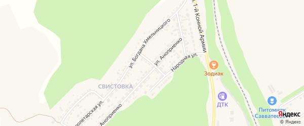 Народная улица на карте Нового Оскола с номерами домов