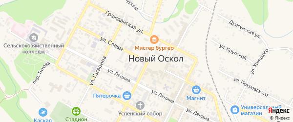 Улица Володарского на карте Нового Оскола с номерами домов
