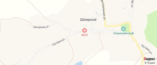 Луговая улица на карте Шмарного села с номерами домов