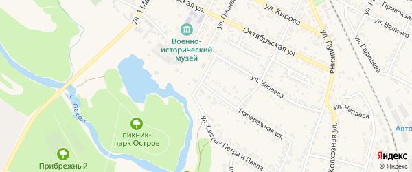 Набережная улица на карте Нового Оскола с номерами домов