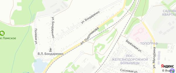 Улица Плотникова на карте Старого Оскола с номерами домов