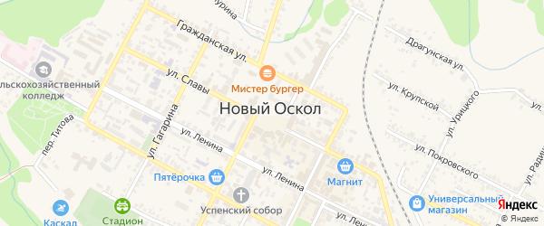 Центральная площадь на карте Нового Оскола с номерами домов