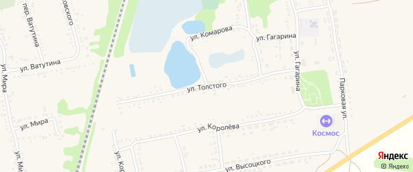 Улица Толстого на карте поселка Волоконовки с номерами домов