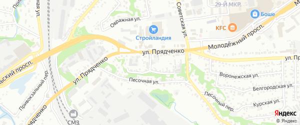 Центральный переулок на карте Старого Оскола с номерами домов