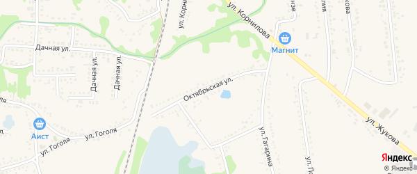 Октябрьская улица на карте поселка Волоконовки с номерами домов