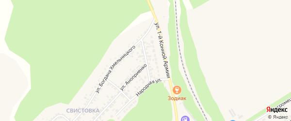 Улица Мосьпанова на карте Нового Оскола с номерами домов