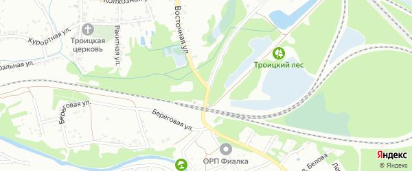 Восточная улица на карте Старого Оскола с номерами домов