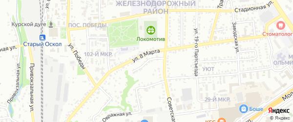2-й Советский переулок на карте Старого Оскола с номерами домов