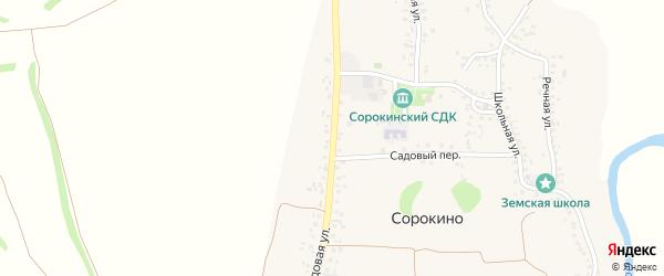 Садовая улица на карте села Сорокино с номерами домов