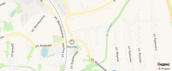 Улица Нахимова на карте поселка Волоконовки с номерами домов