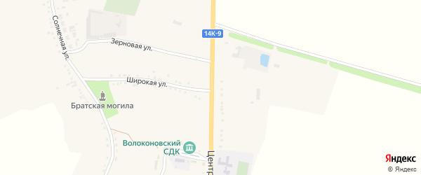 Центральная улица на карте села Волоконовки с номерами домов