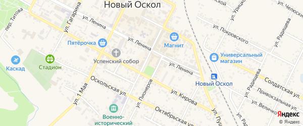 Площадь Революции на карте Нового Оскола с номерами домов