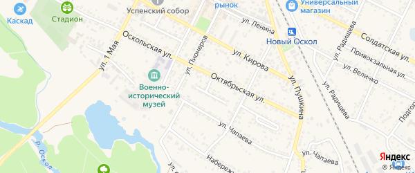 Комсомольская улица на карте Нового Оскола с номерами домов