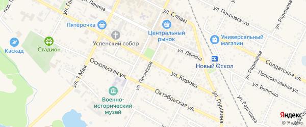 Лозовая улица на карте Нового Оскола с номерами домов
