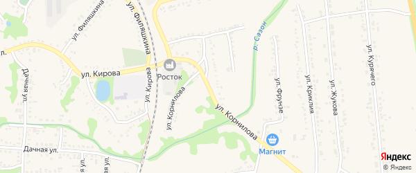 Улица Корнилова на карте поселка Волоконовки с номерами домов